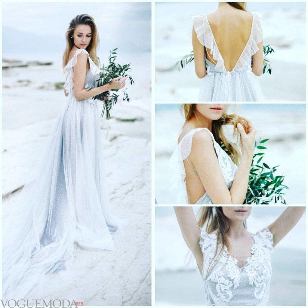 тенденции свадебных платьев: с рюшами