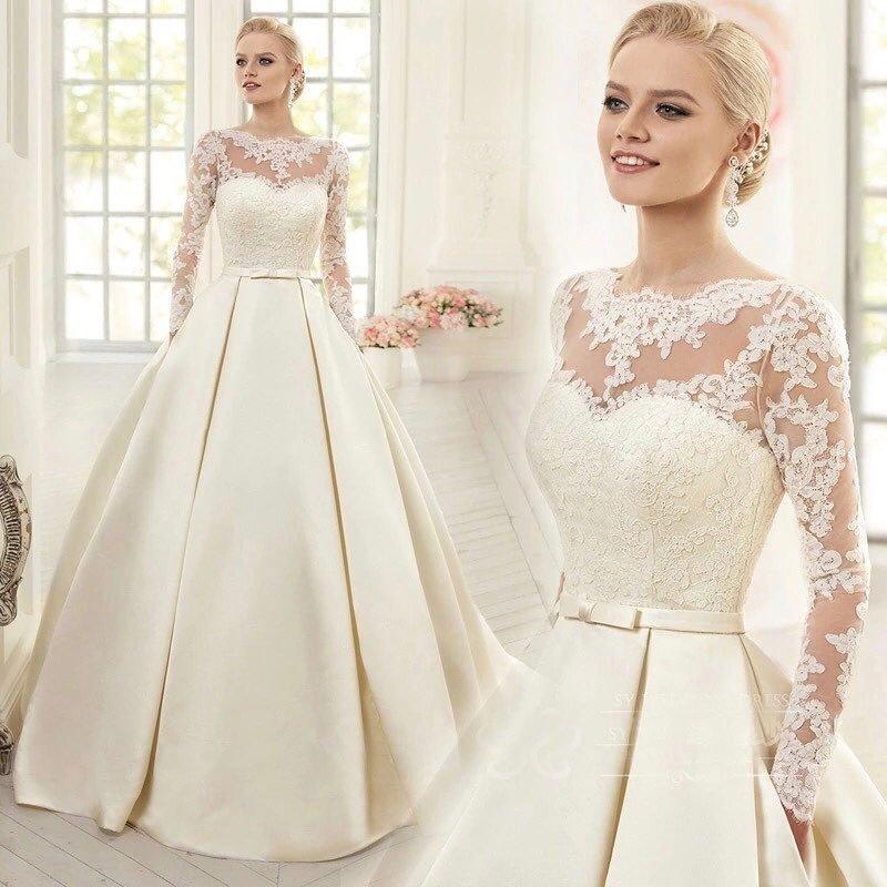 тенденции свадебных платьев: с украшением бант