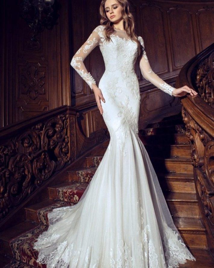 свадебное платье кружево