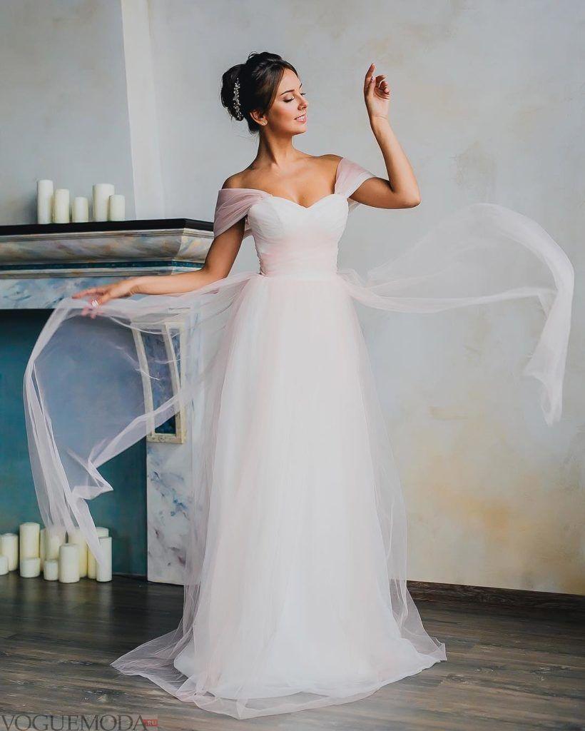 свадебные платья: с открытыми плечами