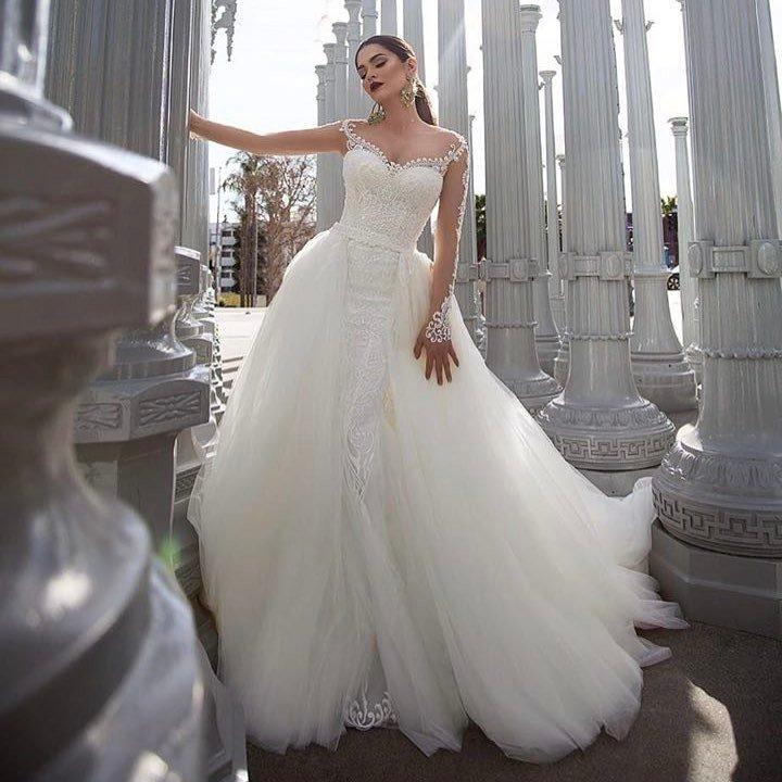 свадебные платья: с открытыми плечами пышное