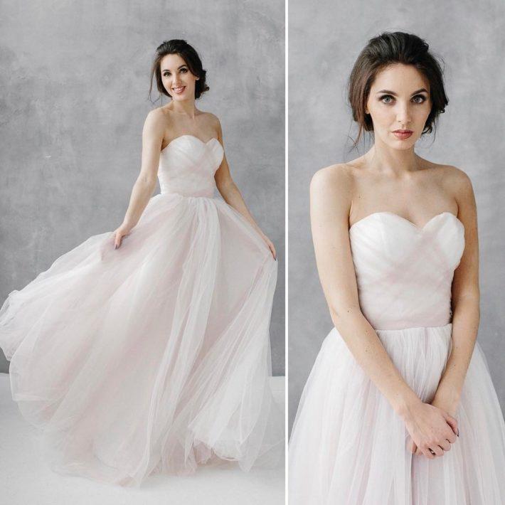 свадебные платья: с открытыми плечами с переплетом
