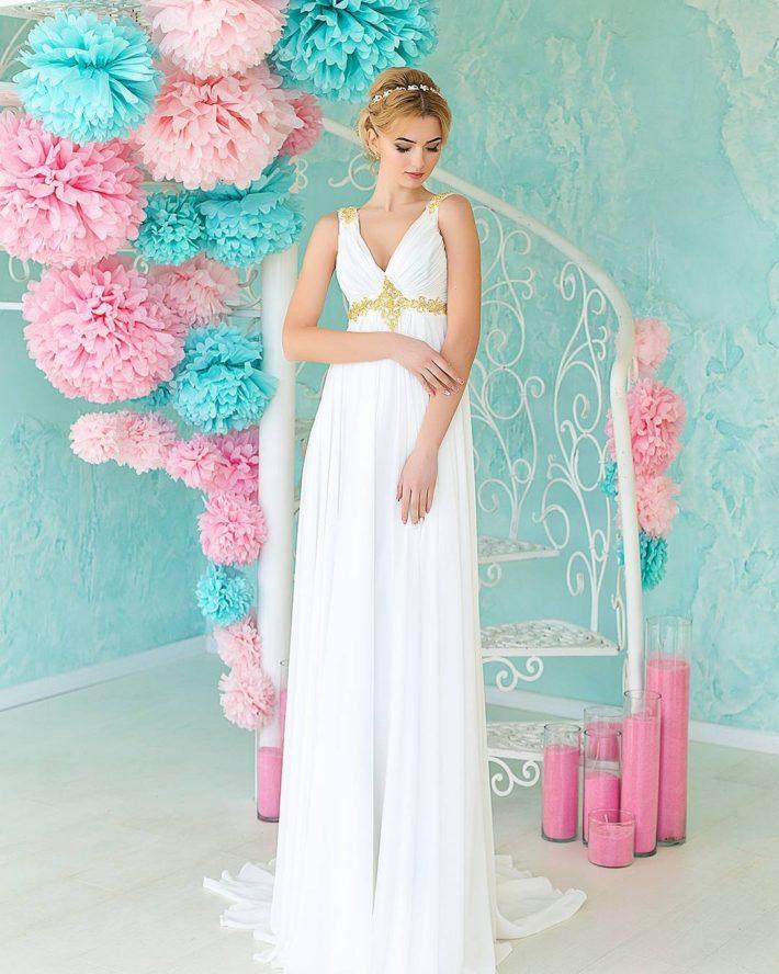 тенденции свадебных платьев: в греческом стиле с поясом