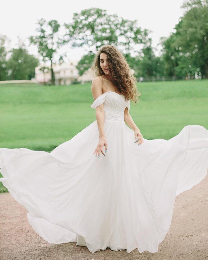 свадебное белое