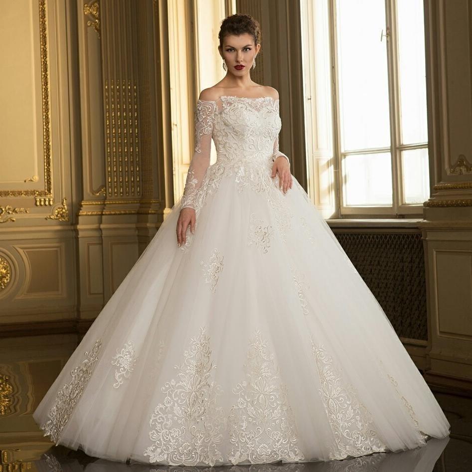 тенденции свадебных платьев: принцесса белое