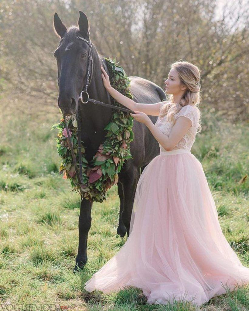 фото свадебных платьев: принцесса розовое