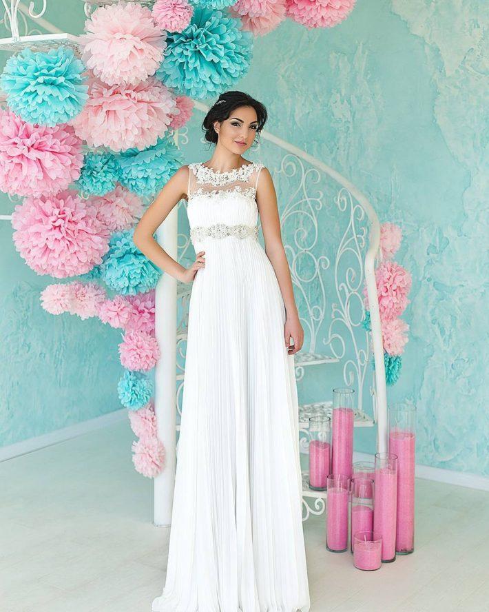 тенденции свадебных платьев: в греческом стиле длинное