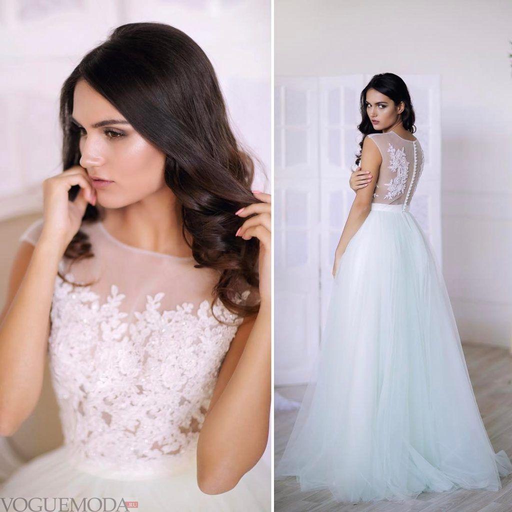 свадебное платье принцесса с пуговицами