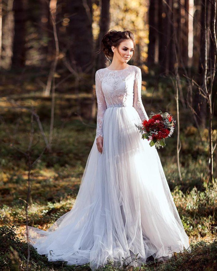 тенденции свадебных платьев: принцесса цветное