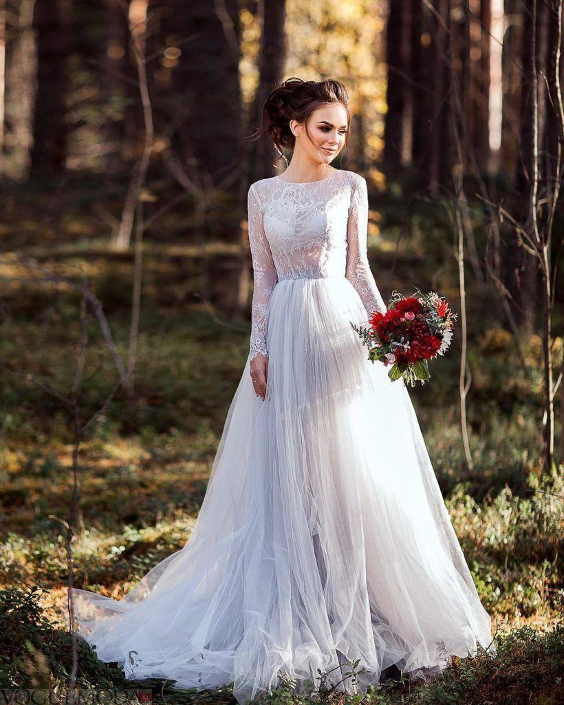 свадебное платье принцесса цветное