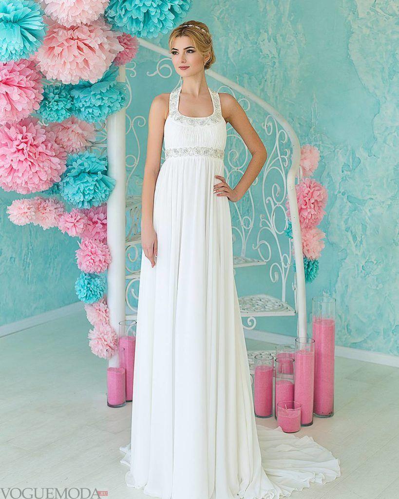тенденции свадебных платьев: в греческом стиле на бретелях