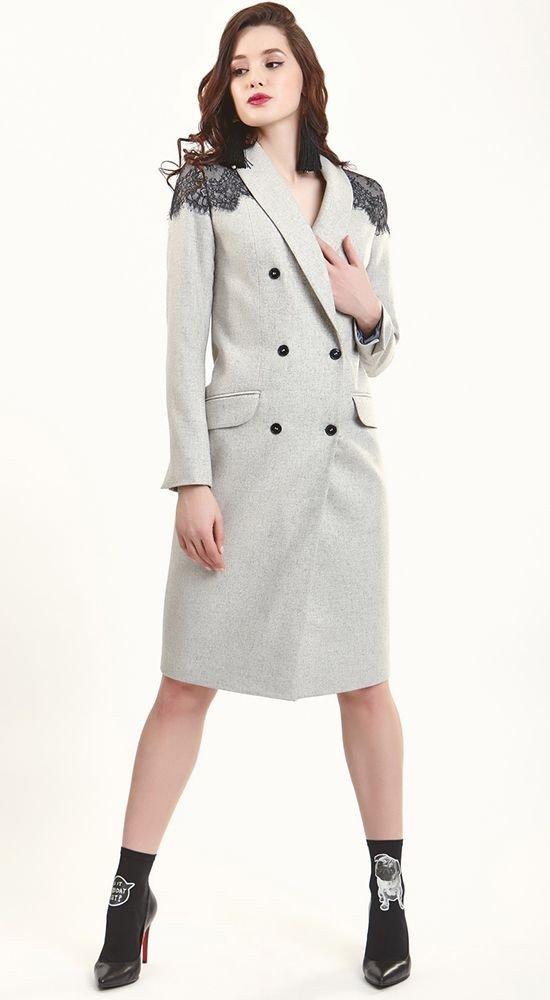 Тренды осень зима: пальто серое