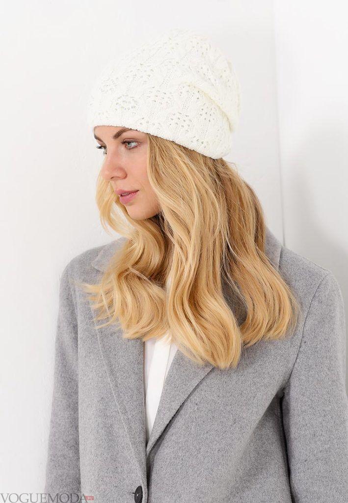 шапка осень зима белая