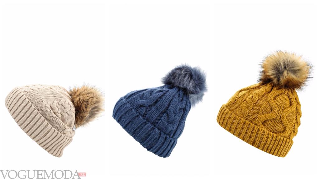 шапки цветные осень зима