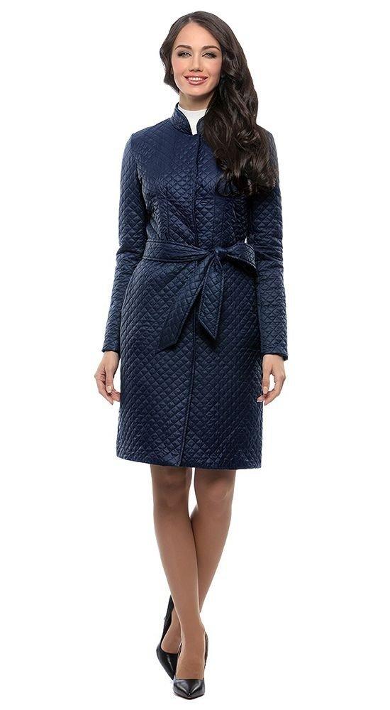 пальто осень зима синее