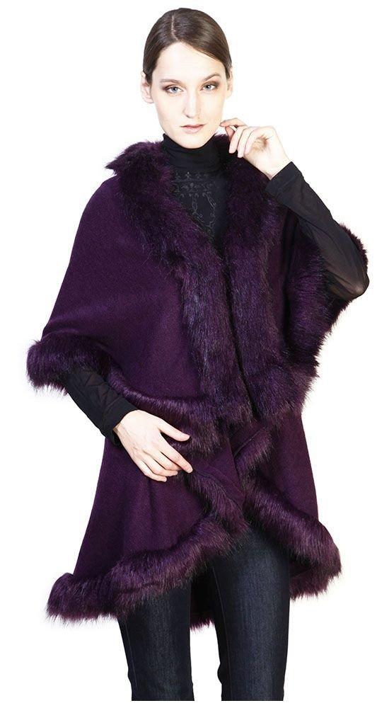 Тренды осень зима: пальто с мехом