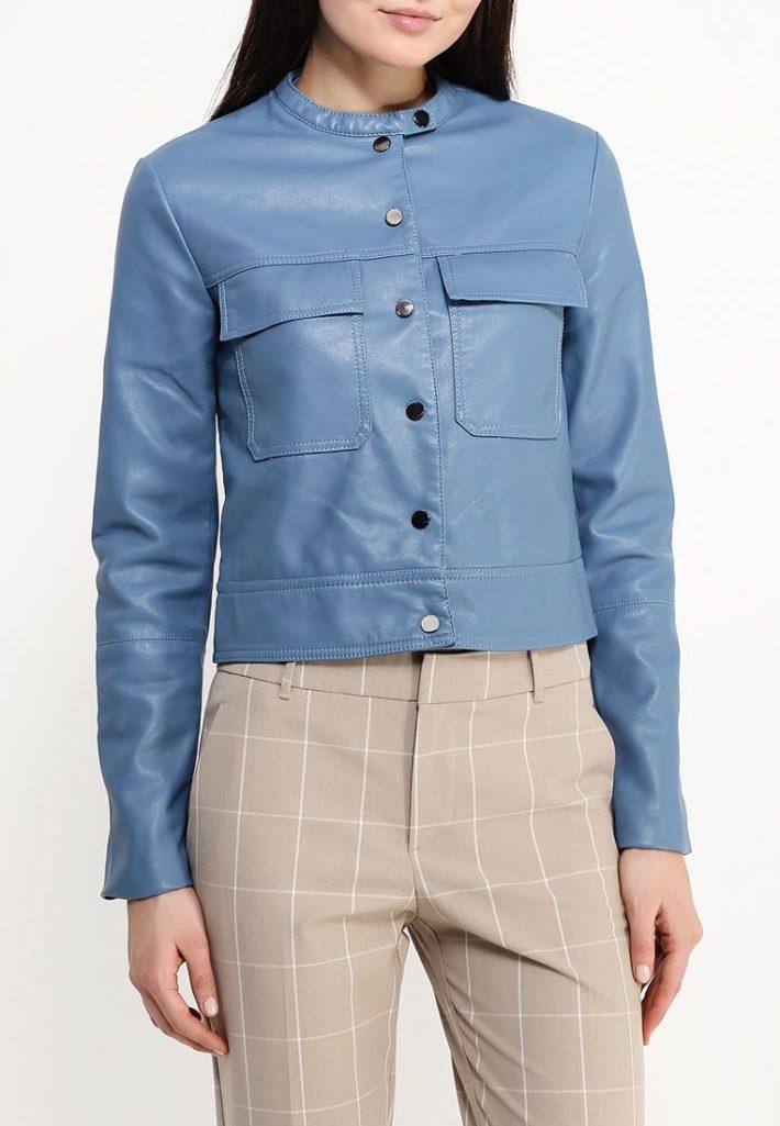 куртка синяя