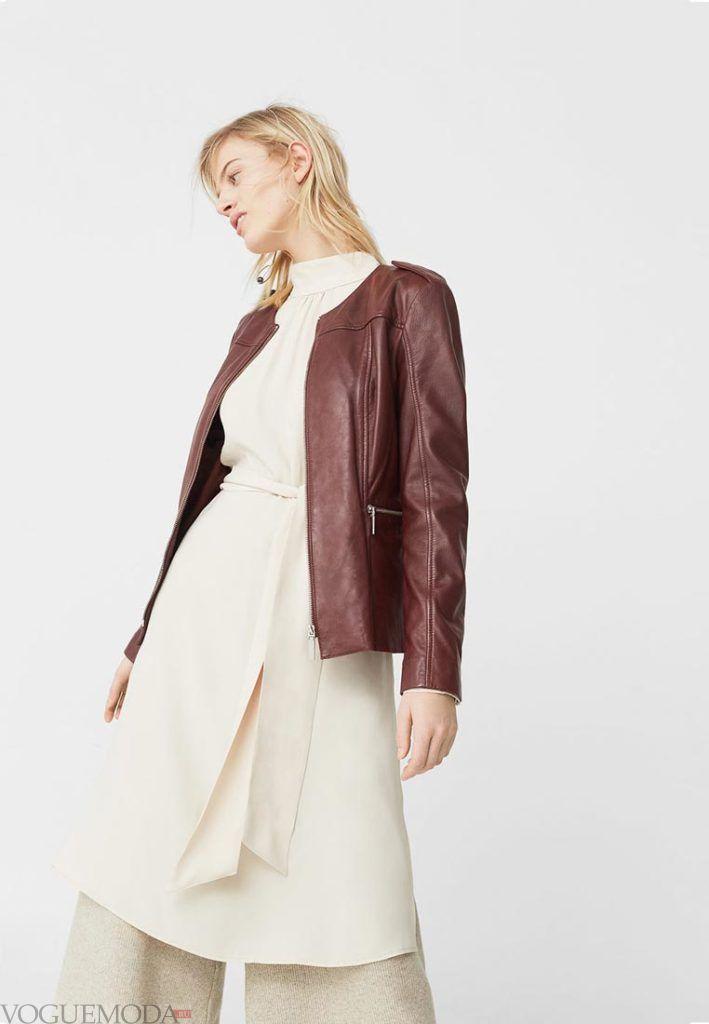 куртка осень зима бордо