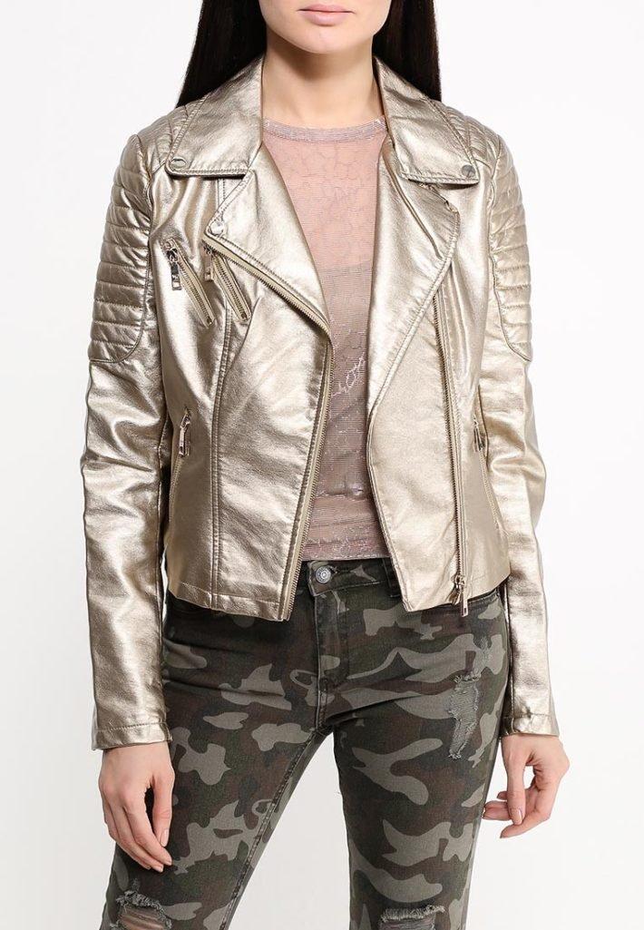 куртка золотистая