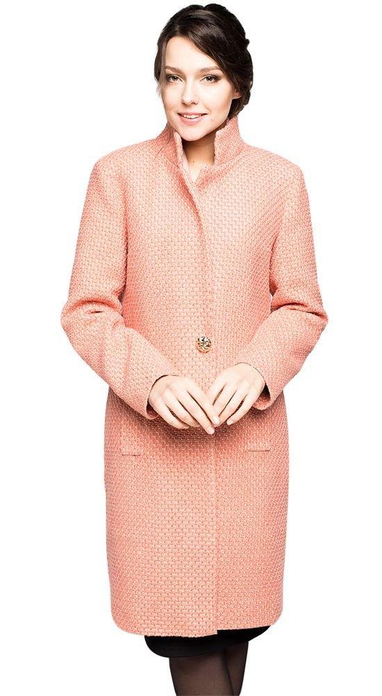 пальто осень зима розовое