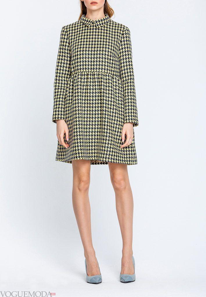 платье осень зима с принтом