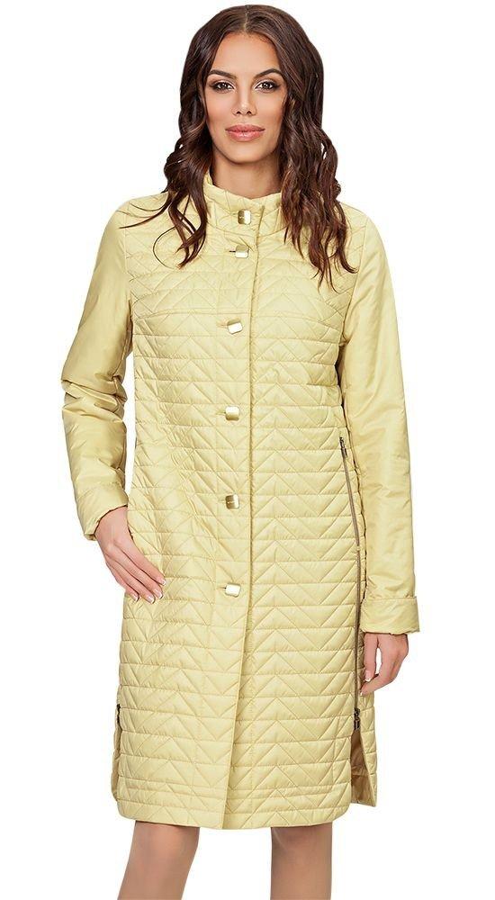пальто осень зима лимонное