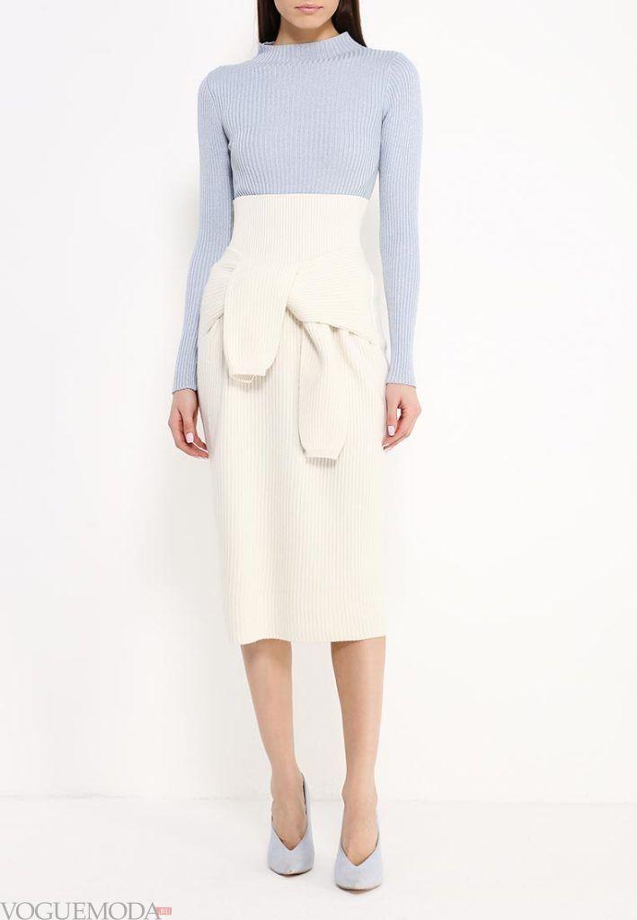 юбка осень зима белая
