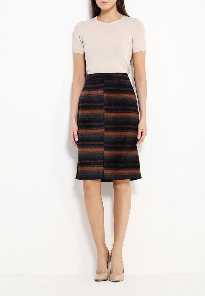юбка в полоску