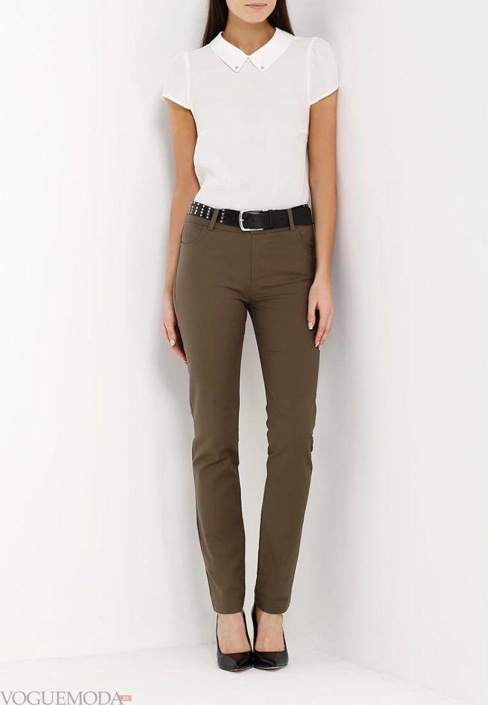 брюки осень зима оливковые