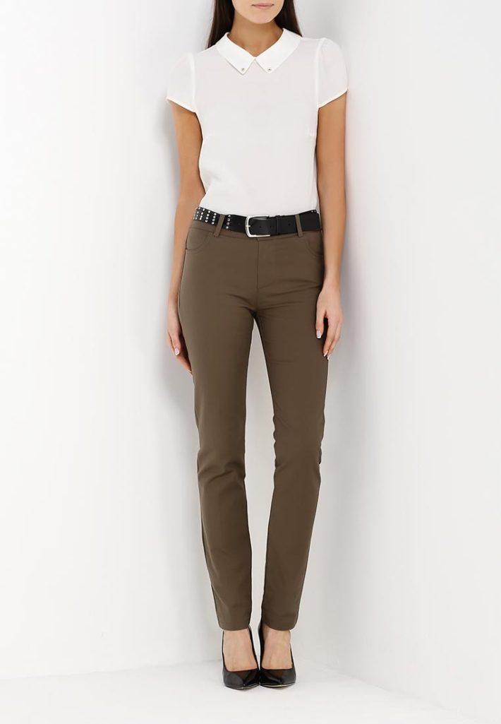 брюки оливковые