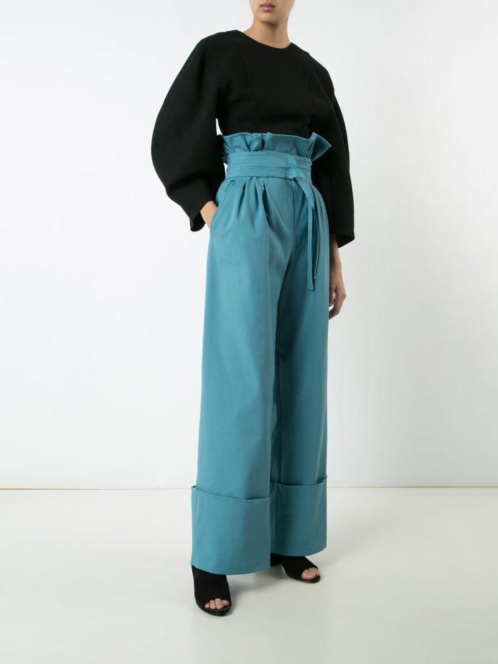 брюки бирюзовые