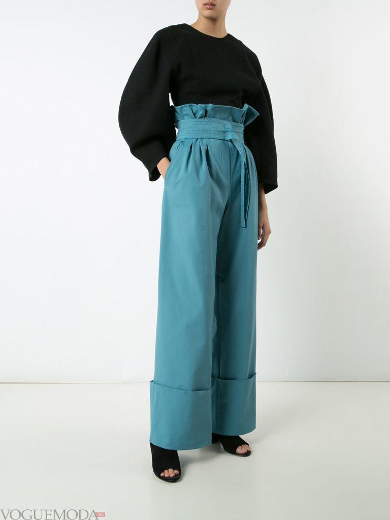 брюки осень зима бирюзовые
