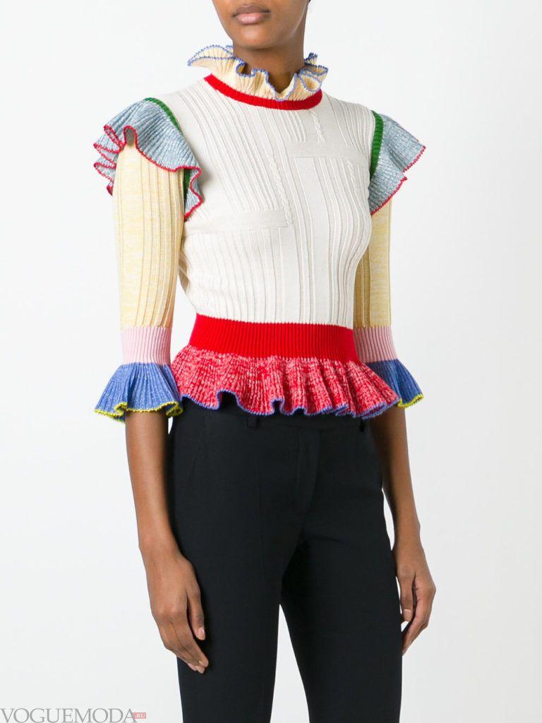свитер осень зима цветной
