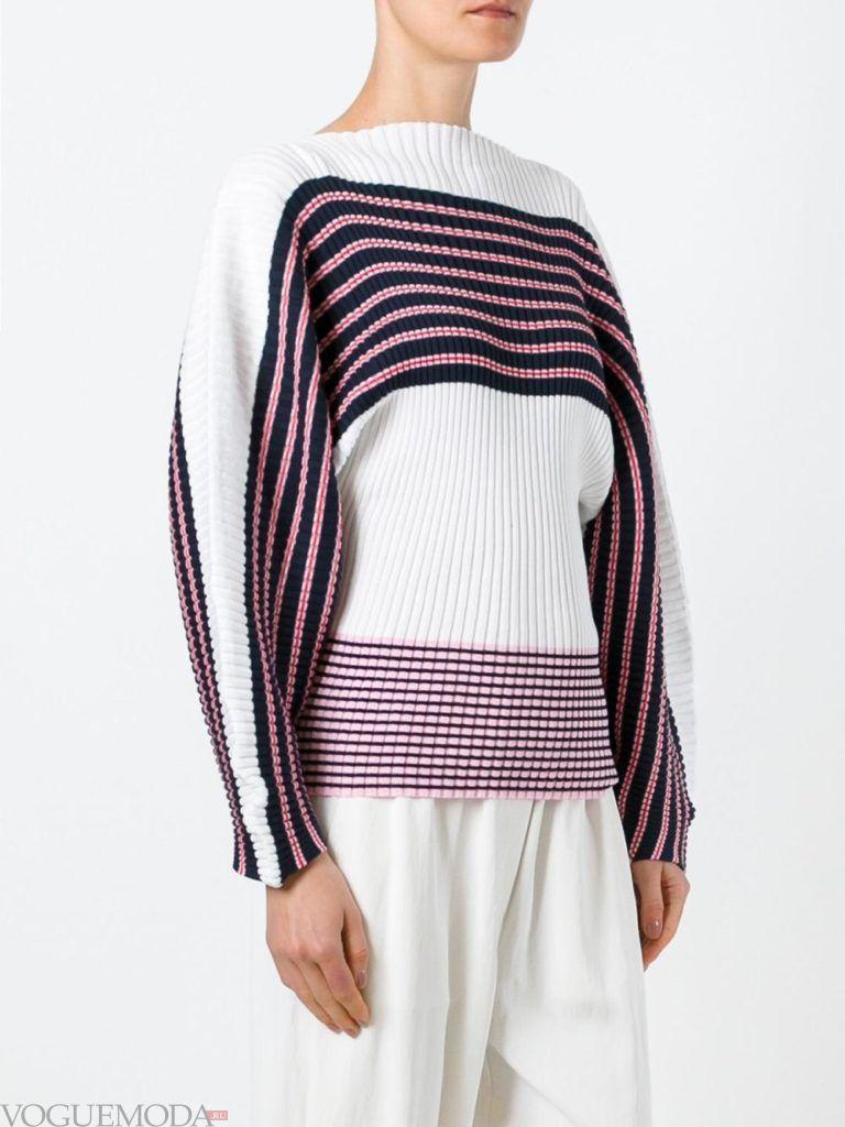 свитер осень зима с полосками