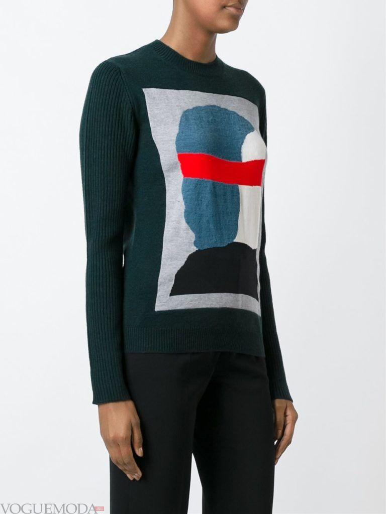 свитер осень зима с рисунком