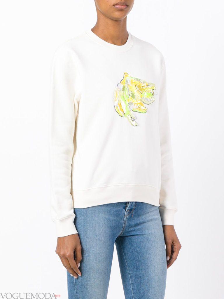свитер осень зима белый