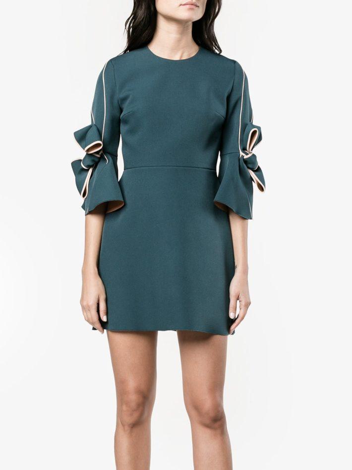 Тренды осень зима 2021 2022: платье с бантами