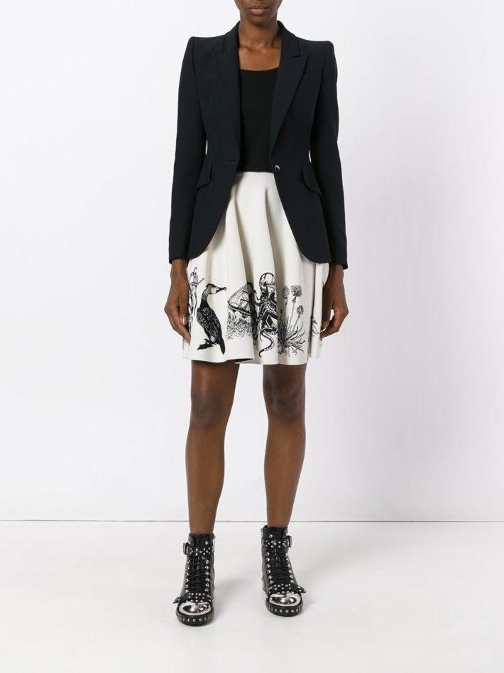 Тренды осень зима 2021 2022: юбка с рисунком