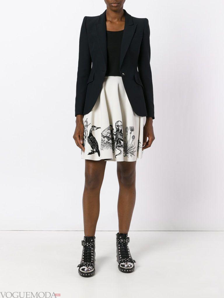 юбка с рисунком осень зима