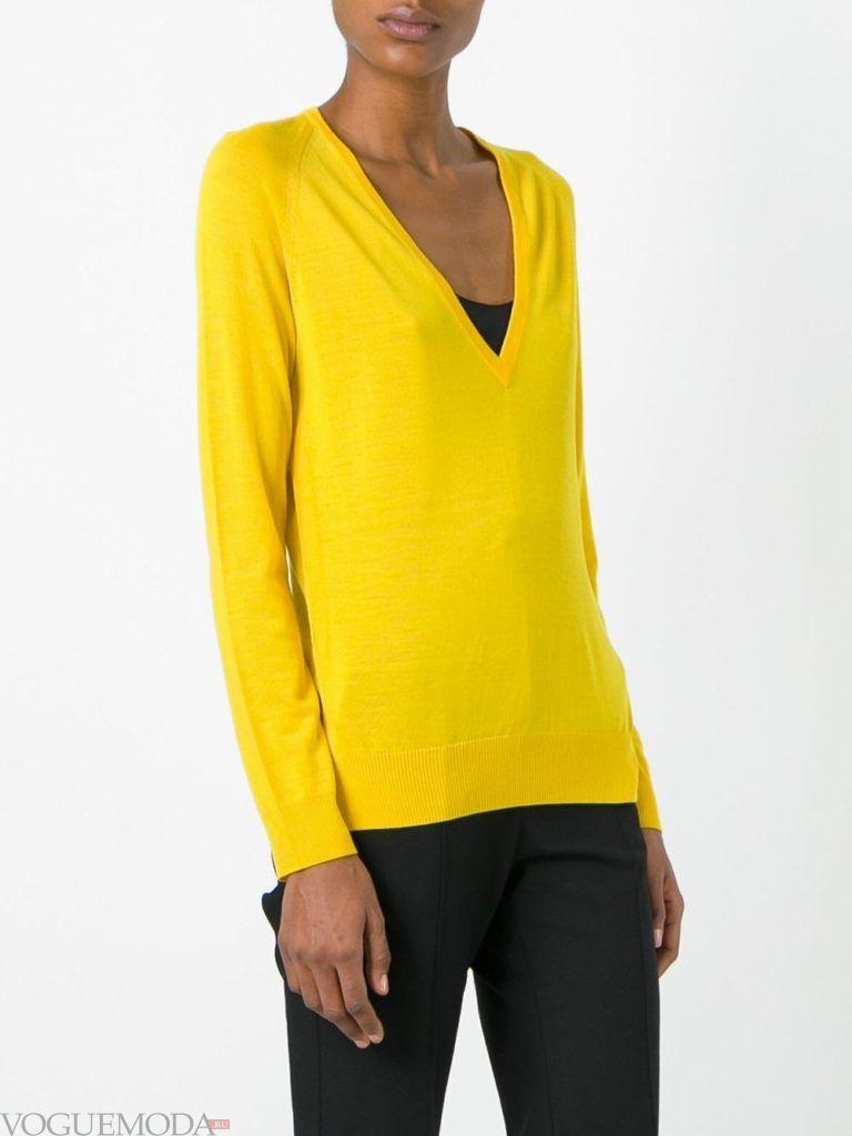 свитер яркий осень зима