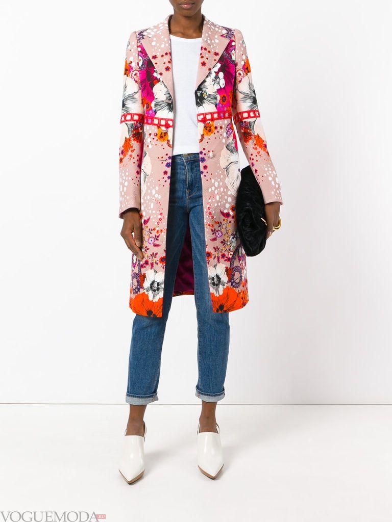 пальто разноцветное осень зима