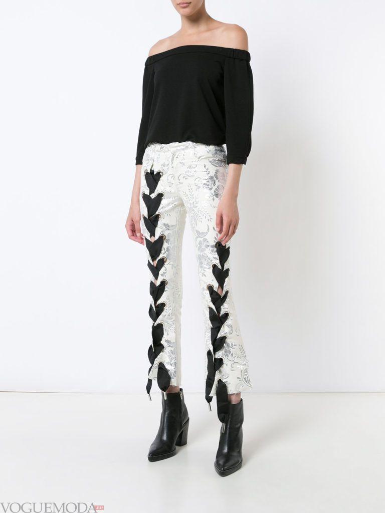 лук с брюками осень зима