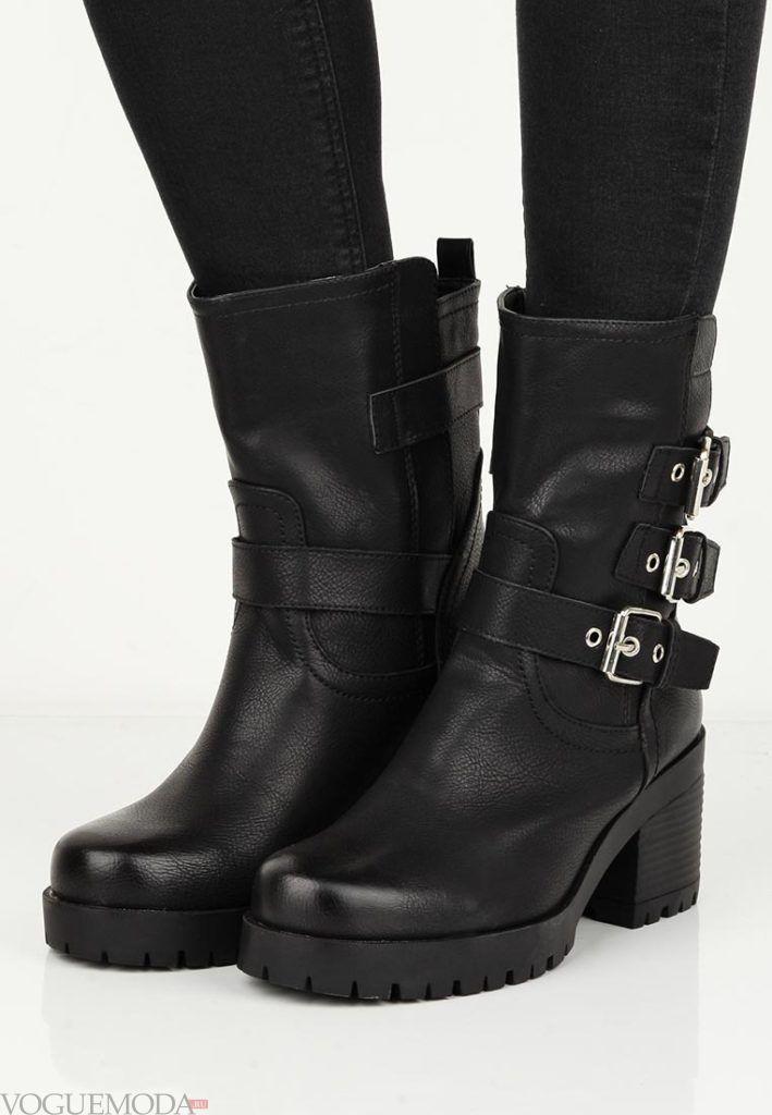 ботинки осень зима с декором
