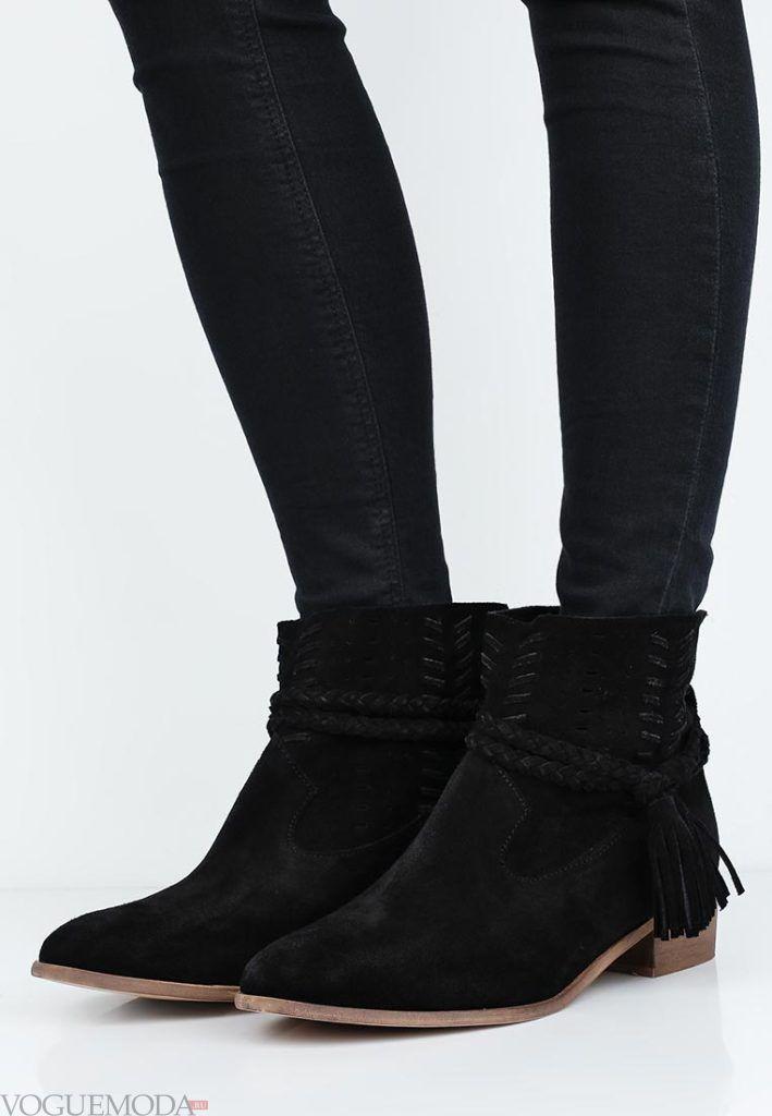 ботинки осень зима замшевые
