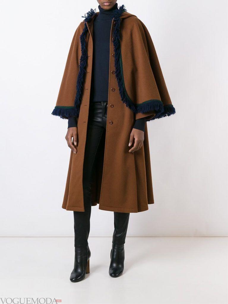 Верхняя одежда осень зима 2019 2020: модное пальто мокко