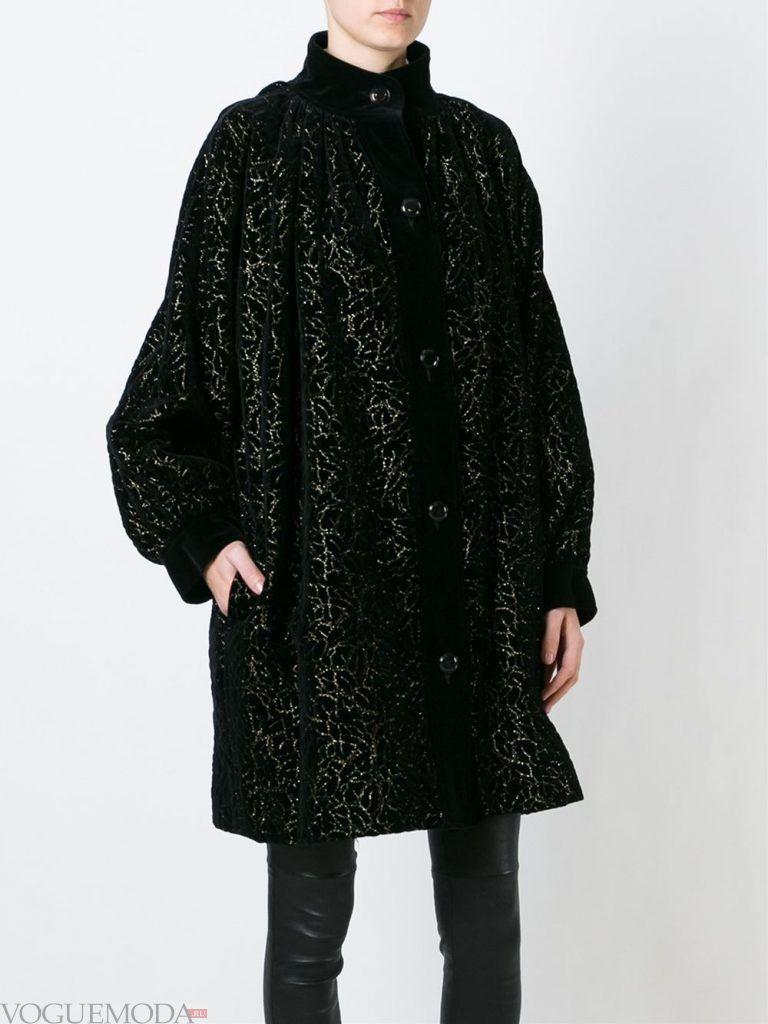 Верхняя одежда осень зима 2019 2020: модное пальто темное
