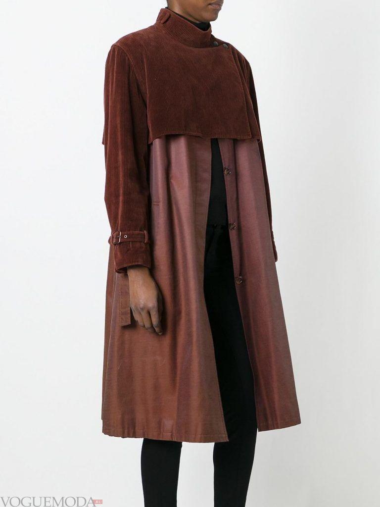 модное пальто с декором