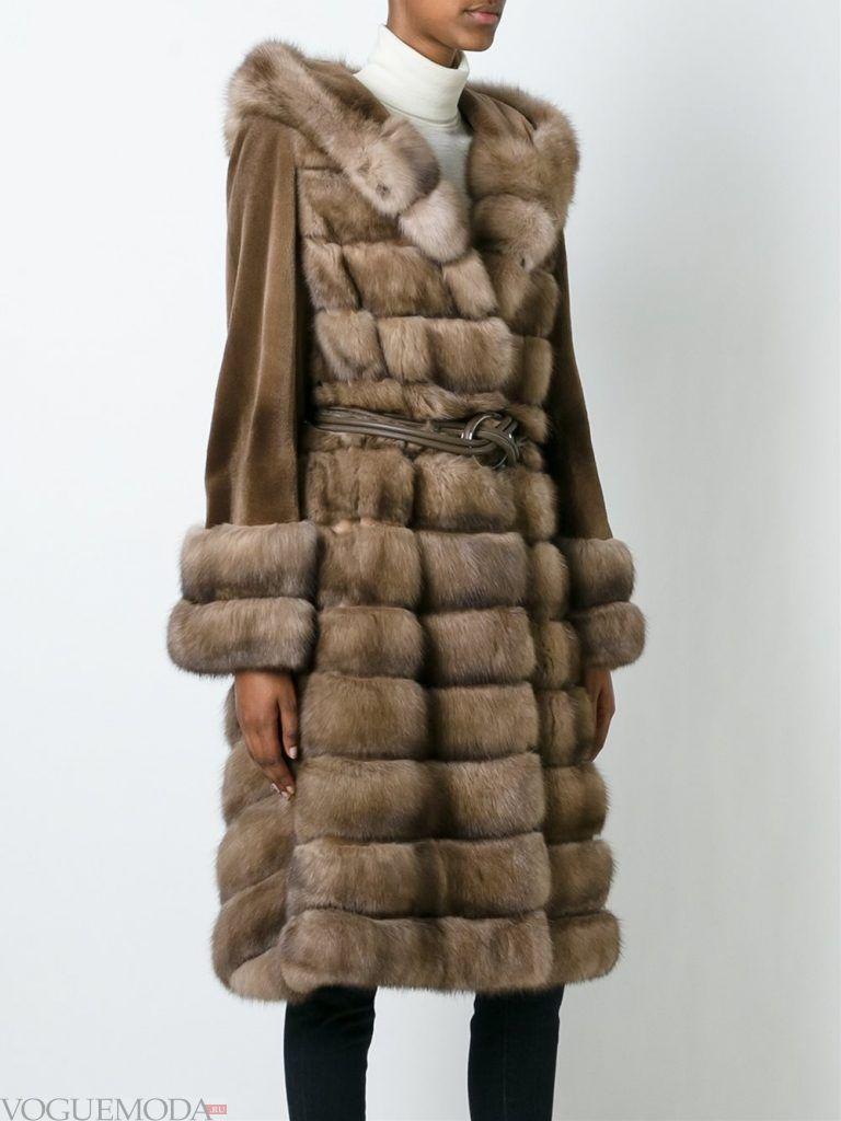 Верхняя одежда осень зима 2019 2020: модная шуба длинная