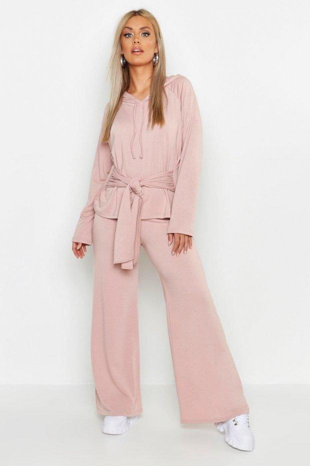 Женские брюки осень зима 2019 2020: розовые свободные