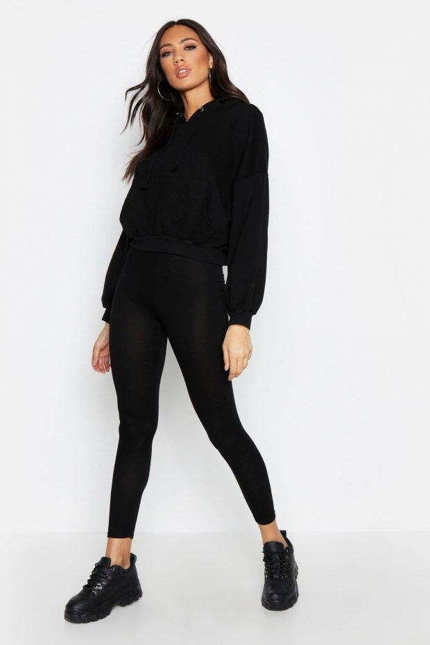 Женские брюки осень зима 2019 2020: черные узкие